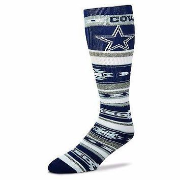 DALLAS COWBOYS TAILGATER CREW SOCKS SIZE ONE SIZE FITS MOST NEW FOR BARE FEET