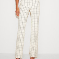 Low Rise Windowpane Barely Boot Editor Pant