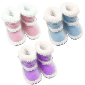 0-18Months Newborn Infant Warm Boots Booties Baby Boy Girl Soft Sole Crib Shoes