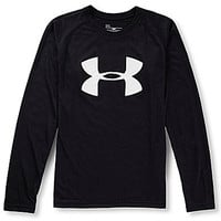 Under Armour 8-20 Tech Long-Sleeve Tee - Black/White