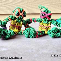 Rainbow Loom Charm Teenage Mutant Ninja Turtles - Rainbow loom turtle - Loom Charm - Loom Band - Bracelet - Necklace Charm - Rainbow Loom