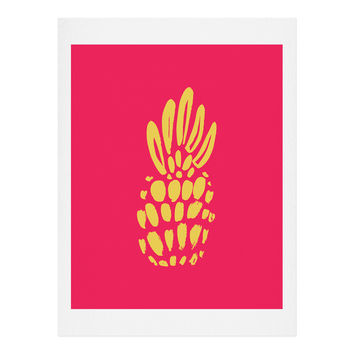 Allyson Johnson Neon Pineapple Art Print
