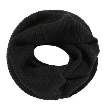 Unisex Winter Warm Solid Knit Crochet Scarf Shawl Collar Neck Wrap Warmer