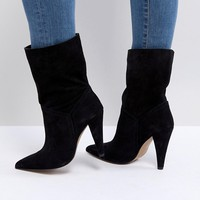 ASOS ELLINA Suede Ankle Boots at asos.com