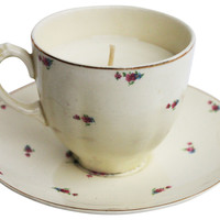 Tea Cup Candle, Lilac, Filled Candles