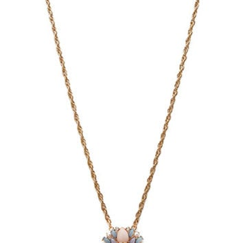 FOREVER 21 Bejeweled Pendant Necklace Gold/Multi One