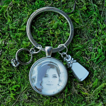 Custom Bridal Photo Keyring - Bridal Gift - Wedding Key fob - Bridal Picture Pendant Keyring - Bridal Shower Gift - Bride Photo Charm