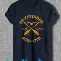 Harry Potter Shirt Gryffindor Quidditch Tshirt Unisex Size T-Shirt