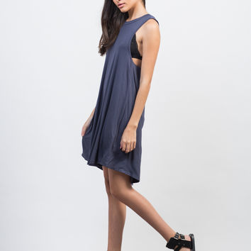 Twist Back Cut Out Dress