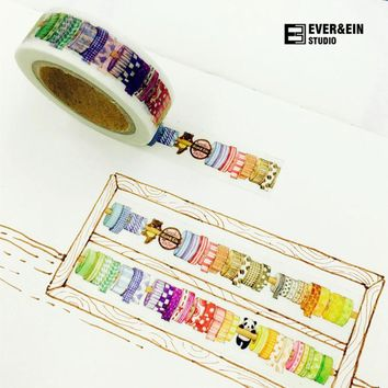 1 pcs/lot DIY Cartoon Paper Washi Masking Tapes More Tapes Design decorative adhesive tape stickers/School Supplies