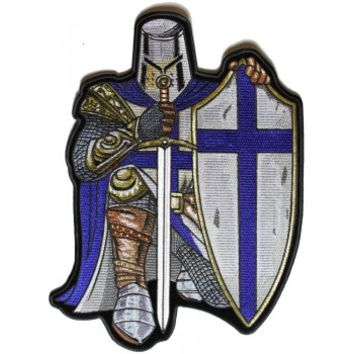 Blue Knight Large Back Patch