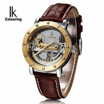 2018 Hot Sale Brand IK 98399 Men's Waterproof  Mechanical Hand Wind Watch For Men