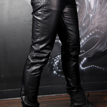 Tripp Mens Skinny Pleather Pants :: VampireFreaks Store :: Gothic Clothing, Cyber-goth, punk, metal, alternative, rave, freak fashions