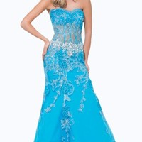 Lace Soft Tulle Gown by Tony Bowls Paris
