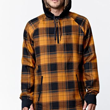 Quiksilver Layover Plaid Flannel Long Sleeve Riding Shirt - Mens Tee - Multi Color