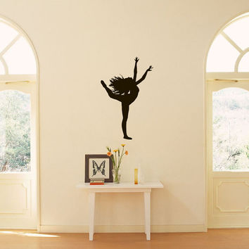 Ballet Dance Studio Ballerina Sports Shapely Dancing Girl Housewares Wall Vinyl Decal Art Design Murals Interior Decor Sticker SV1945