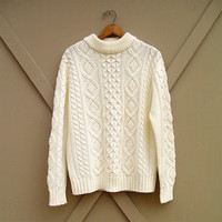 70s vintage Fisherman Cable Knit Sweater
