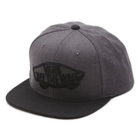 Vans Home Team Snapback Hat (Black Heather)