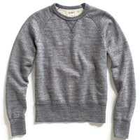 Blue Heather Terry Sweatshirt