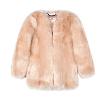 Baby Pink Faux Fur Coat / Shop Super Street