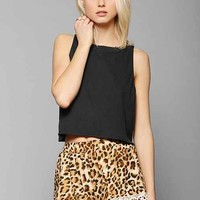 Sparkle & Fade Leopard Lace Short- Brown Multi