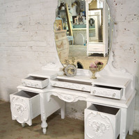Painted Cottage Chic Shabby Romantic Vanity VAN740