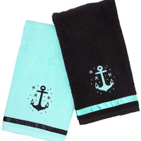 Anchor Hand Towel Bathroom Set by Sourpuss - Towels