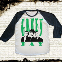 Size S -- GREEN DAY Shirts Punk Rock Shirts Alternative Rock T Shirts Baseball Tee Jersey Tee Raglan Long Sleeve Unisex Shirts Women Shirts