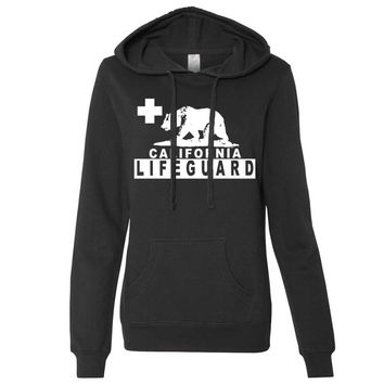 California Lifeguard Ladies Fitted Hoodie