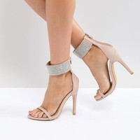 Truffle Collection Embellished Heeled Sandals at asos.com