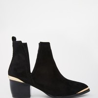 ASOS RUMBLE Pointed Ankle Boots