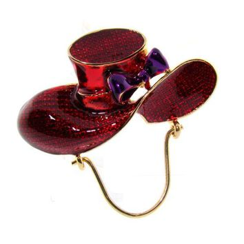 Red Hat Pin with Eye Glass Holder Case Pack 4