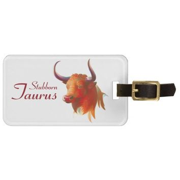 Zodiac Taurus Sign Luggage Tag