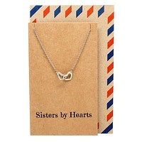 Freeda Happy Birthday Sister Necklaces, Best Friend Jewelry Gifts