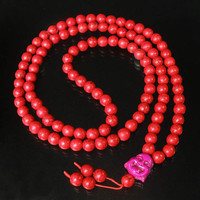 Tibet Red Turquoise Stone 10mm 108 Beads Purple Happy Buddha Beaded Buddhism Prayer Mala Necklace