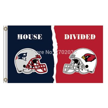 New England Patriots Vs Arizona Cardinals Polyester World Series Football Super Bowl Champions Fan Patriots And Cardinals Flag