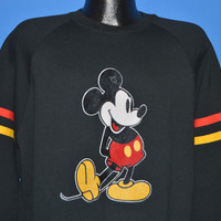 80s Mickey Mouse Striped Sweatshirt Extra Large