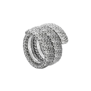Classic Chain Silver Double Coil Ring, Size 7 - John Hardy