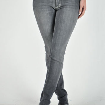 Plus Size Gray Straight leg Jeans