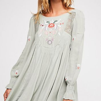 Moya Embroidered Mini Dress