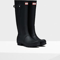 HUNTER ORIGINAL TALL SLIM ZIP BLACK WELLINGTON BOOTS US Sizes 6 - 10 Welly Black