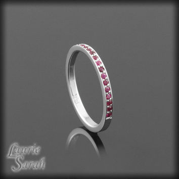 July Mothers Ring  Ruby Birthstone  LS1571 by LaurieSarahDesigns