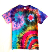 Tie Dye Shirt - Psychedelic Tie Dye Galaxy T-Shirt - 100% Cotton - Men and Women's Hippie Festival Wear