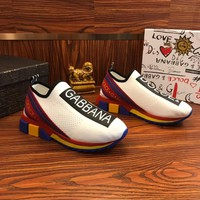 Dolce & Gabbana D&g Stretch Mesh Sorrento Sneakers With Logo White - Best Online Sale