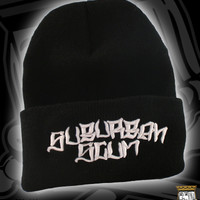 SUB LOGO BEANIE ON BLACK