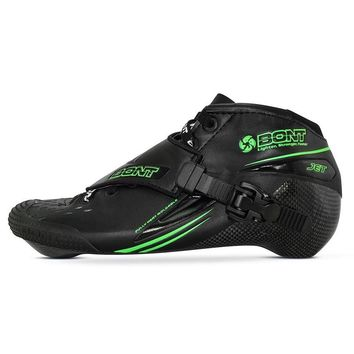 100% Original Bont Jet 2PT 195mm Speed Inline Skate Heatmoldable Carbon Fiber Boot Competetion Racing Skating Boot Patines Shoes