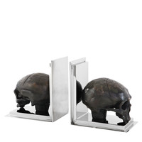 Skull Bookends set of 2 | Eichholtz