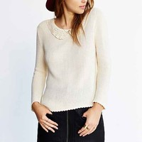Cooperative Lace Collar Sweater-