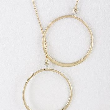 Two Linked Circles Daily Necklace
