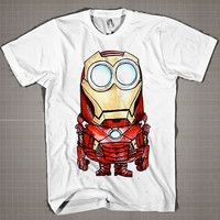 IRONMAN MINION Parody  Mens and Women T-Shirt Available Color Black And White